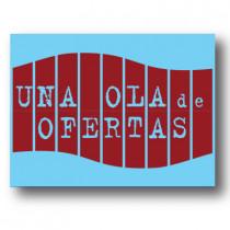 Cartel UNA OLA DE OFERTAS, 60 x 80 cm