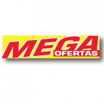 Cartel MEGA OFERTAS, 116 x 30 cm