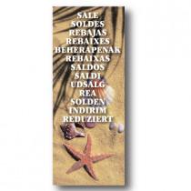 Cartel REBAJAS, 120 x 43 cm