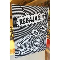 Cartel REBAJAS, L60  H80 cm