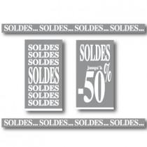 """Kit de 4 affiches """"SOLDES"""""""