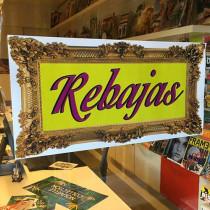 Cartel REBAJAS, 58 x 29 cm