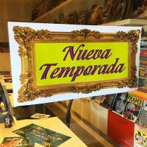 Cartel NUEVA TEMPORADA, 58 x 29 cm