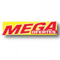 Cartel MEGA OFERTES, 116 x 30 cm
