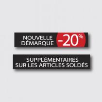 """Affiche """" NOUVELLE DÉMARQUE -20% supplementaire"""" L165 H15 cm"""