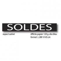 """Affiche """" SOLDES """" XXL .  L280 H45 cm"""