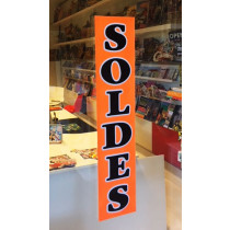 """Affiche """"SOLDES"""" fluo L25 H115 cm"""