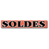 """Affiche """"SOLDES"""" fluo L115 H25 cm"""