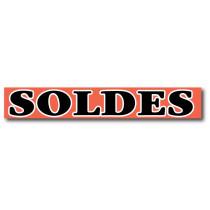 """Affiche """"SOLDES"""" L168 H20 cm"""