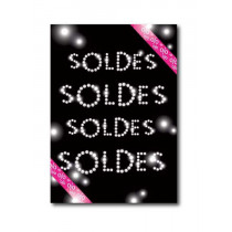 Affiche XXL SOLDES D'HIVER  L120 H170cm
