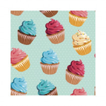 "Sticker pour table IKEA Lack décor ""CUPCAKES"" L55 H 55 cm"