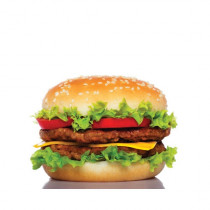 "Sticker pour table basse IKEA Lack décor ""BIG BURGER"" L55 H 55 cm"