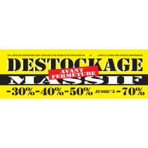 Bâche DESTOCKAGE  MASSIF   L300 H100 cm avec renfort et 16 oeillets