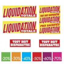 kit de 11 affiches LIQUIDATION TOTALE