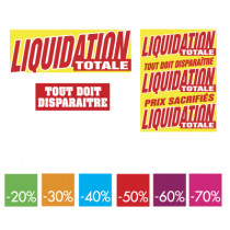 kit de 9 affiches LIQUIDATION TOTALE