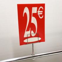 "Panneau polypro ""25€"" L17,5 H24,5 cm"