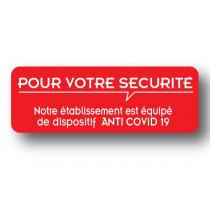 Sticker de sol rouge POUR VOTRE SECURITE  32 H11cm