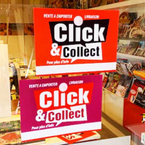 Carton 2 en 1 CLICK AND COLLECT L42H30 cm avec ventouse à pression