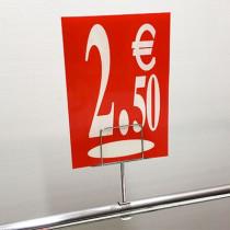 "Panneau polypro ""2,50€"" L17,5 H24,5 cm"