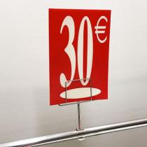 "Panneau polypro ""30€"" L17,5 H24,5 cm"