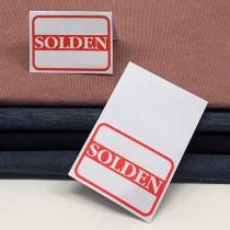 500 stuks paper 80g. L70 H100mm SOLDEN