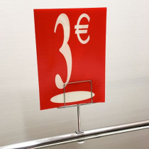 "Panneau polypro ""3€"" L17,5 H24,5 cm"