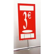 "Panneau polypro ""3€"" L19 H38 cm"