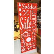 Poster SALE,SOLDES,SOLDEN L42 H115cm