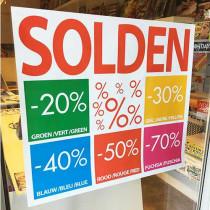 Poster SOLDEN 20,30,40,50,70%, L80 H70 cm