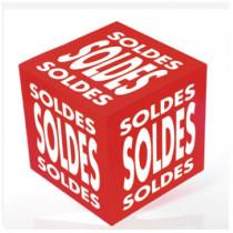 """Cube carton imprimé """"SOLDES"""""""