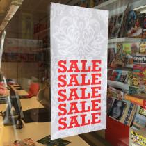 """Cardboard """"SALE """" L34 H 68 cm"""