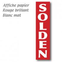 """L'affiche """"SOLDEN"""" verticale L40 H165 cm"""