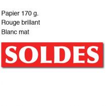 """Affiche """"SOLDES"""" L165 H40 cm"""
