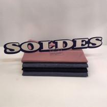 """Carton """"SOLDES"""" L49 H6 cm"""