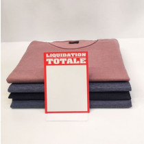 """Paquet de 50 étiquettes carton """"LIQUIDATION TOTALE"""" L105 H145 mm"""