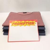 """Paquet de 10 étiquettes carton """"promotion"""" L145 H200 mm"""