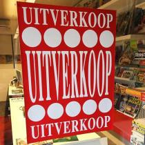 """Poster  """"UITVERKOOP """" L60  H80cm"""