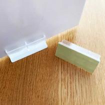 Support transparent grand modèle avec adhesif double face