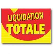 """Affiche """"LIQUIDATION TOTALE"""" L120 H85 cm"""