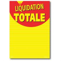 """Affiche """"LIQUIDATION TOTALE"""" L120 H170 cm"""
