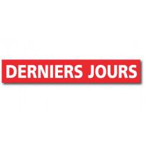 """Affiche """"DERNIERS JOURS"""" L120 H20 cm"""