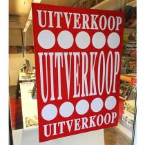 """Poster  """"UITVERKOOP"""" L70  H100cm"""