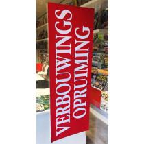 """Poster  """"VERBOUWINGS OPRUIMING"""" L120  H43cm"""
