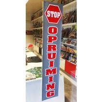 """Poster  """" STOP OPRUIMING"""" L25 H115cm"""