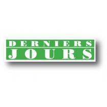 """Affiche """"DERNIERS JOURS"""" L116 H30 cm"""
