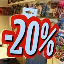 """Carton """"-20%"""" L24 H28 cm"""
