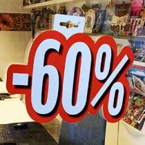 """Carton """"-60%"""" L24 H28 cm"""