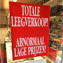 "Poster  ""TOTALE LEEGVERKOOP!"" L60  H80cm"