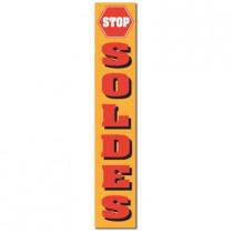 """Affiche """"STOP SOLDES"""" L20 H82 cm"""