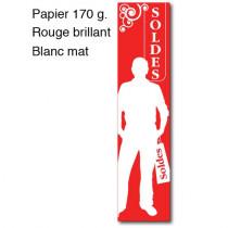 """Affiche """"SOLDES"""" silhouette homme L40 H165 cm"""